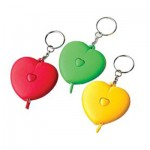 KK070 พวงกุญแจตลับเมตรรูป หัวใจ