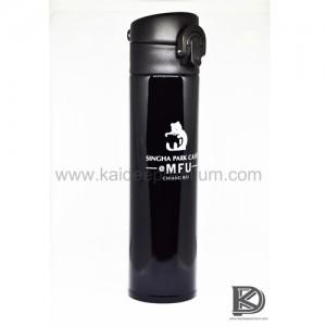 ผลงาน สกรีน กระบอกน้ำสแตนเลส KF045 (SINGHA PARK CAFE)