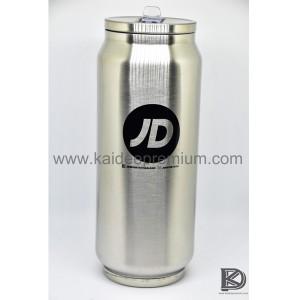 ผลงาน สกรีน กระป๋องน้ำอัดลมสแตนเลส KF039 ( JD )
