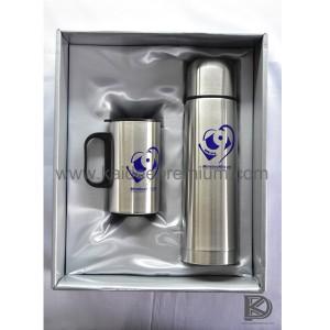 ผลงาน สกรีน ชุดเซ็ทกระบอกน้ำสแตนเลส KF115 (MinebeaMitsumi)